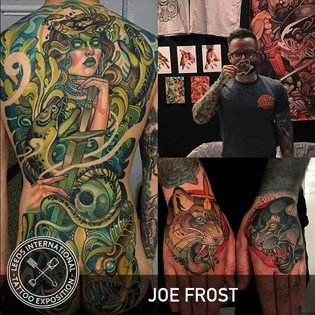 WEBSTA @leedstattooexpo Joe Frost @hellomynamesjoe will be joining us at Leeds Tattoo Expo 2018!! To be held at @firstdirectarena on 7th and 8th July - tickets available now from Ticket Arena and Ultimate Skin in Leeds city centre.  https://www.ticketarena.co.uk/festivals/leeds-international-tattoo-exposition