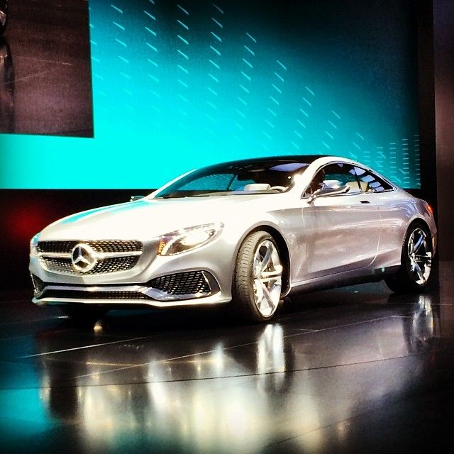 Our very own Dr. Dieter Zetsche arrives on stage in style in the Concept S-Class Coupe. #NAIAS #Boss