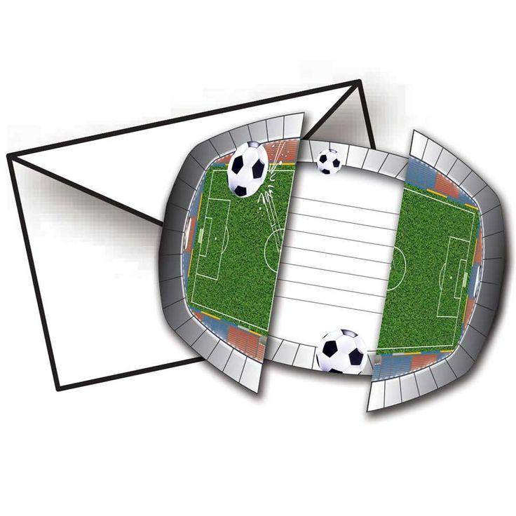 8 invitations stade de foot pour l'anniversaire de votre enfant - Annikids