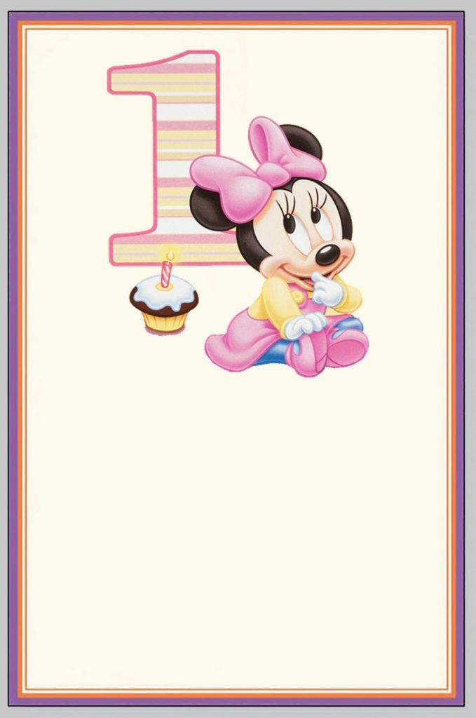 Minnie Mouse First Birthday Invitation Card