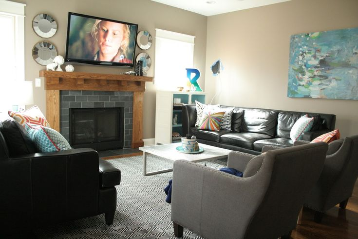 Family Room Setup Ideas Part - 38: 11u0027 X 14u0027 Living Room | Layout #4 Uses Just The Larger Part Of Our  Sectional, Opposite Our Two ... | Papago LRoom | Pinterest | Living Rooms,  Room And Small ...