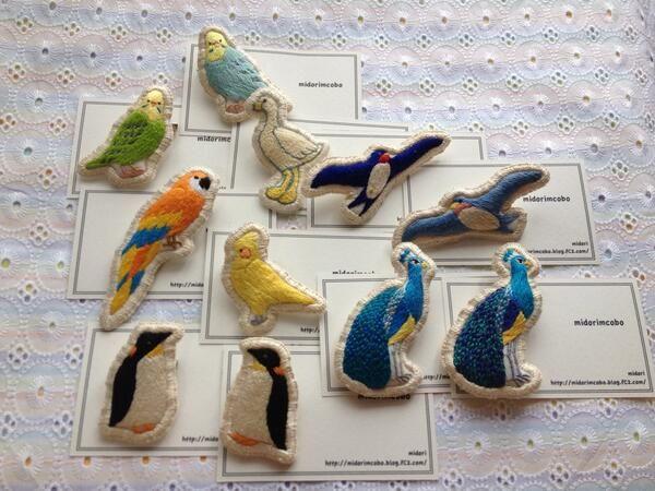 брошь птица вышивка украшение