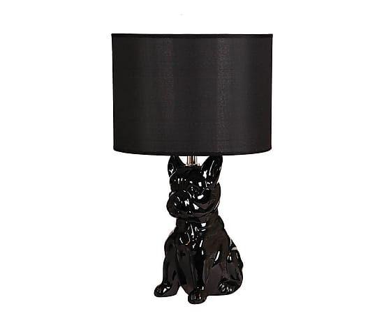 """89zł Lampa stołowa """"Hund Black"""", Ø 25, wys. 44 cm"""