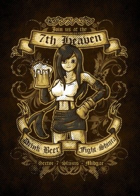 final fantasy 7th heaven pop culture video game tifa lockhart beer