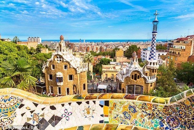 Gaudi's Parc Guell in Barcelona, which is packed with museums, tapas, bars and shops