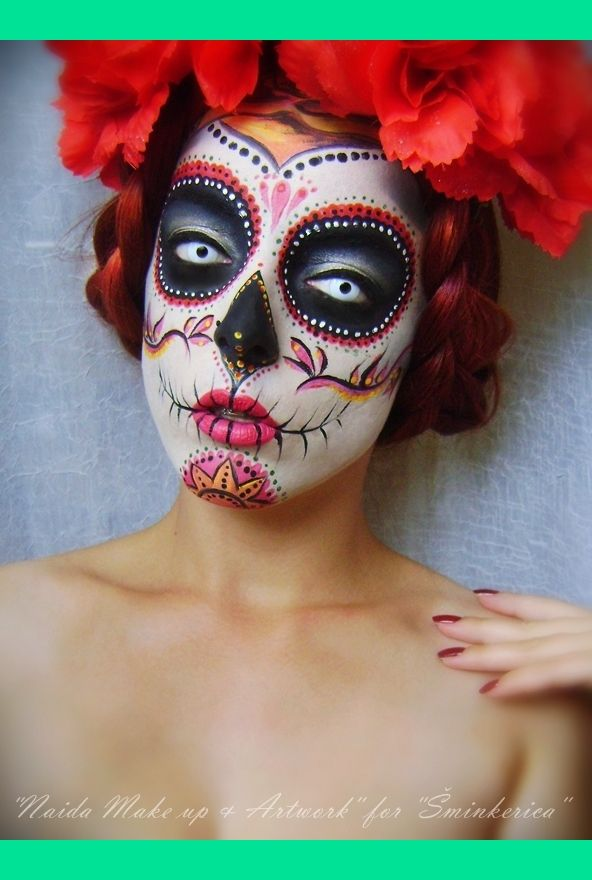 Joy of Giving: Halloween 2012 'Sugar Skull' Makeup