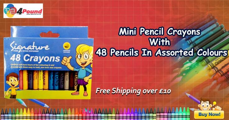 Order Stationery Product Crayons 48 Only at #4pound store.Get 50% Off  Buy Now: http://www.4pound.co.uk/crayons-48