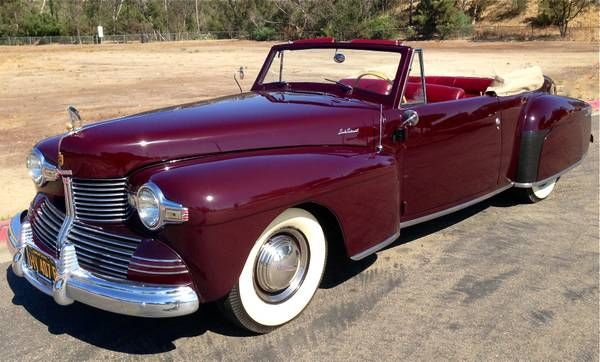 Edsel S Own 1942 Lincoln Continental Convertible