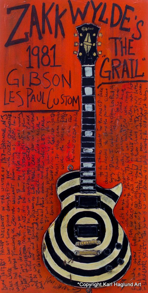 Zakk Wylde 1981 Gibson Les Paul vintage guitar 11x17 art print. The Grail. Ozzy. Black Label Society. by KarlHaglundArt on Etsy https://www.etsy.com/listing/201420049/zakk-wylde-1981-gibson-les-paul-vintage