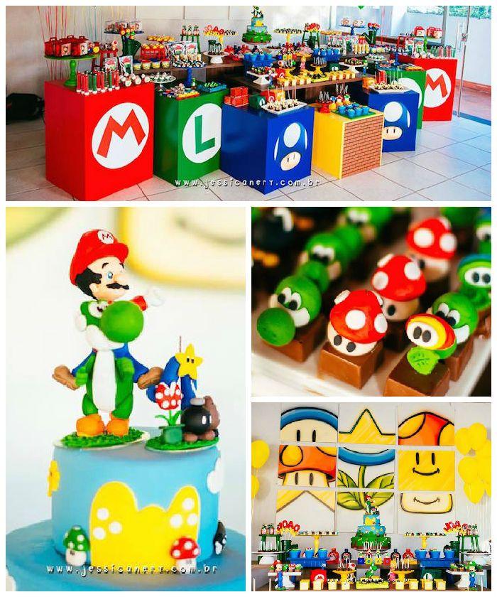 Super Mario Brothers Party!! #nintendo #supermariobros #mario #birthdayparty #kidsparty #birthdayideas xtremegameexperience.com