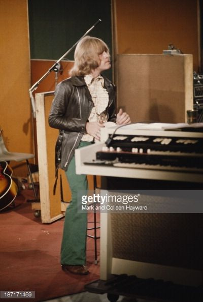 Brian Jones from The Rolling Stones during recording of the track 'Sympathy for the Devil' at Olympic Studios in Barnes, London, 10th June 1968.