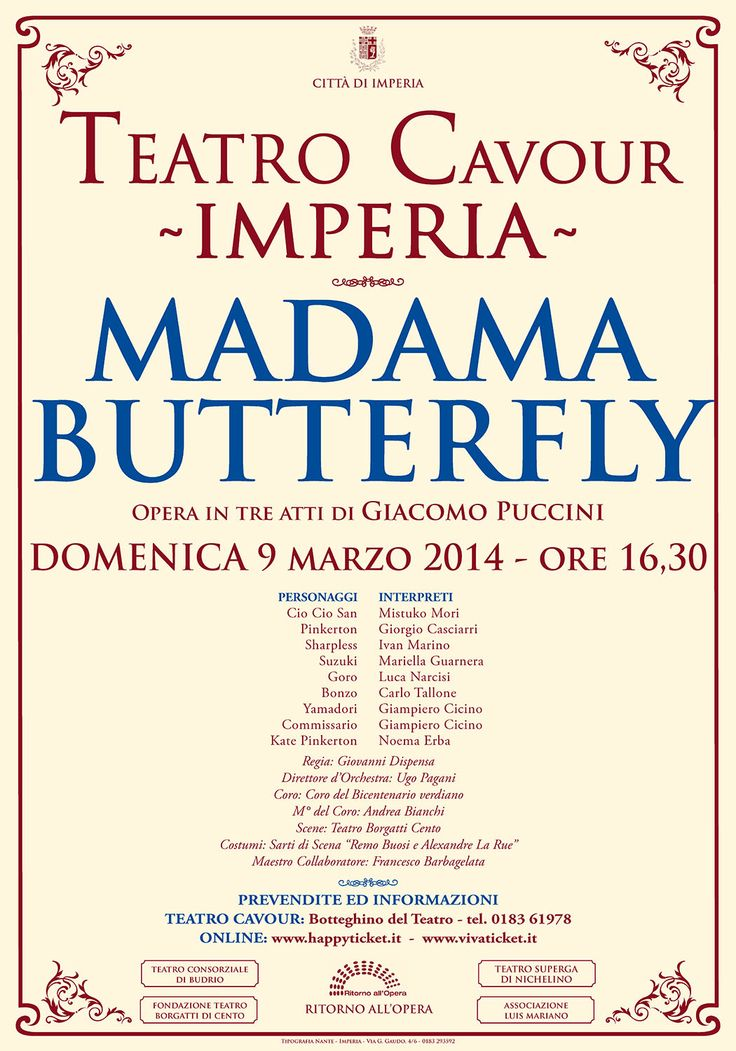 a personal reaction to the madam butterfly opera by giacomo puccini Common knowledge places paris, france places: paris, france  by giacomo puccini: the bohemian and the banker by bonnie dee: bohemian  english national opera.