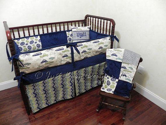 Custom Baby Bedding Set Wyatt  Boy Crib by BabyBeddingbyJBD