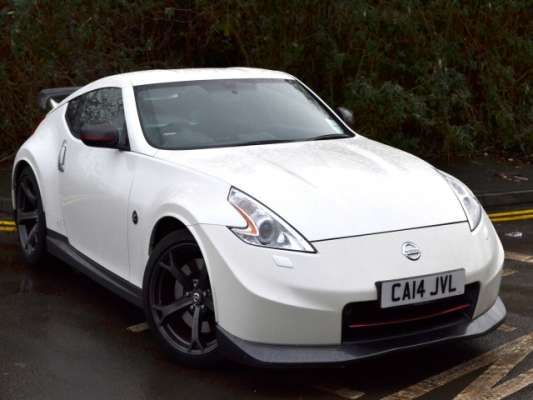 used 2014 14 reg white nissan 370z 3 7 v6 344 nismo 3dr for sale on rac cars nissan. Black Bedroom Furniture Sets. Home Design Ideas