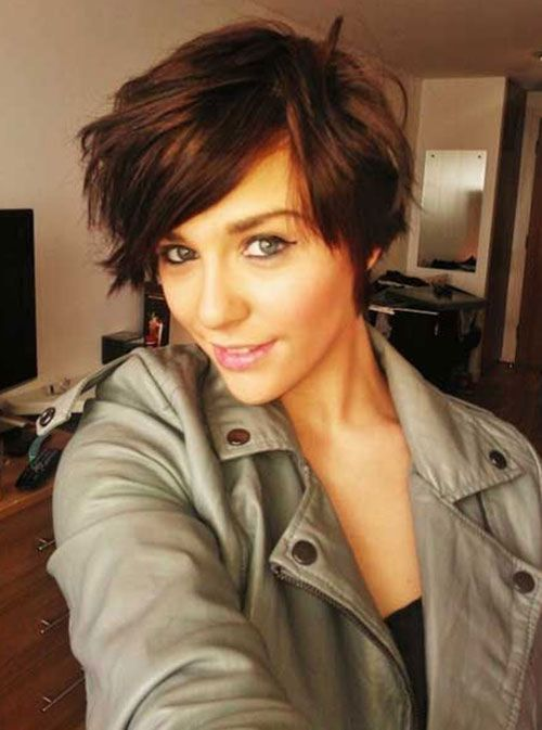 Short Fine Hair  Like this cut too. Afraid the bangs would get on my nerves though.