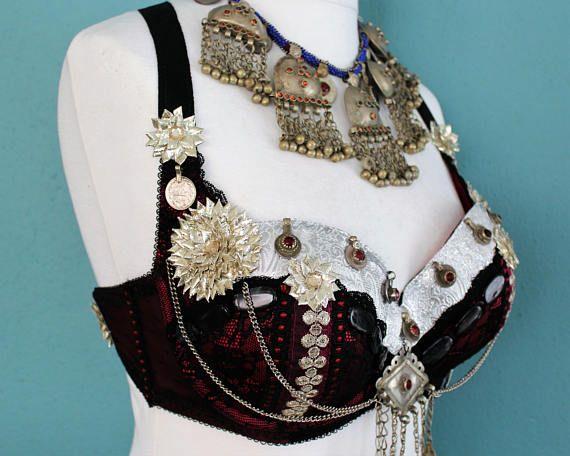 Tribal-Fusion-BH Gr. 85 E Bauchtanz Tribal ATS Tanz Kostüm