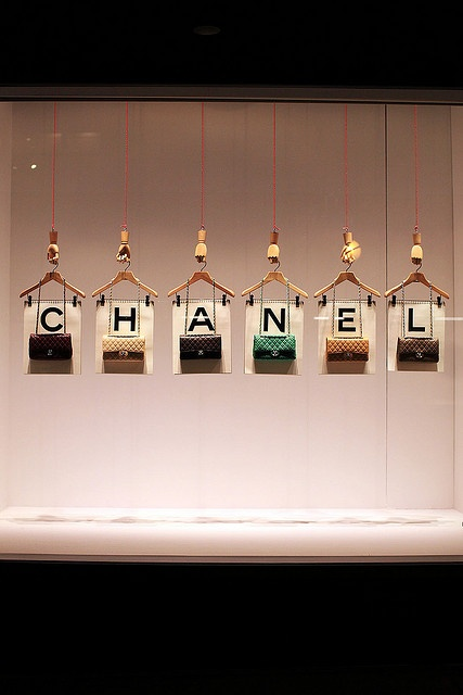 I could easily imagine this with S A L E hanging from the skirt/pant holders. 62/365: CHANEL by style.ish