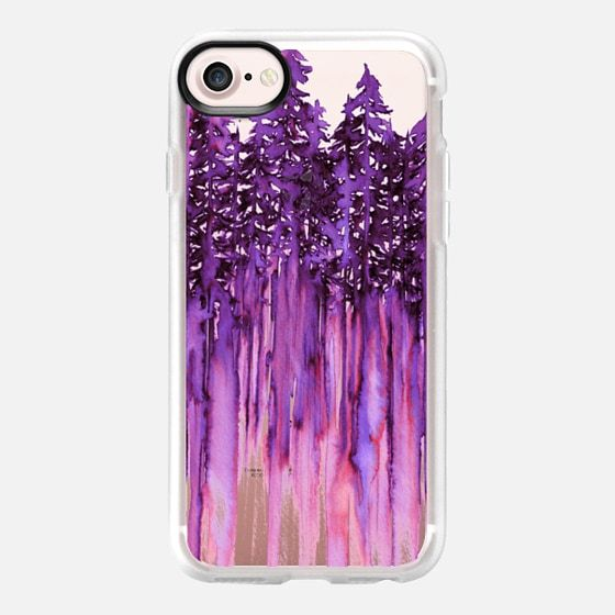 """THROUGH THE TREES, BOLD VIOLET PURPLE PINK"" By Artist Julia Di Sano, Ebi Emporium on #Casetify @Casetify, #purple #pink #violet #wanderlust #colorful #trees #nature #mountain #forest #outdoors #chic #watercolor #painting #hygge #winter #2017 #iphonecase #iphone6 #iphone7 #iphone6s #iphone7plus #tech #case #phonecase #clearcase #transparent #art #EbiEmporium #CasetifyArtist"