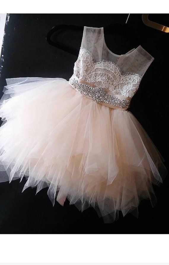 41caf8831aa flower girl dress  Bianca  with rhinestone sash by somsicouture ...