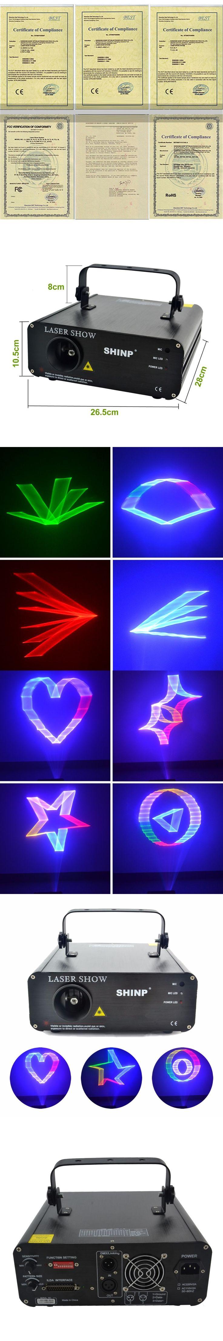 SHINP 3D RGB Animation 12CH DMX 512  Laser Lights Scanner DJ Party KTV Disco Projector Show Stage Lighting AL-460RGB(3D)