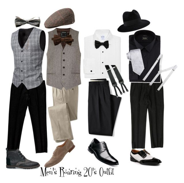 Men's Roaring 20's Outfit Ideas by graceprettyvida on Polyvore featuring polyvore Brooks Brothers Neiman Marcus Viktor