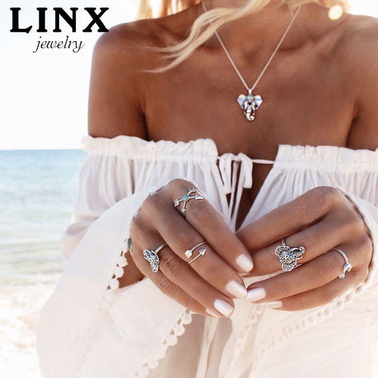 Aliexpress.com: Compre LINX Combinar Livremente Mulheres Bohemian Vintage Knuckle Anéis Set Punk Knuckle Anéis Mulheres Boho Jóias FP QT009 de confiança jóias feitas na itália fornecedores em LINX JEWElRY