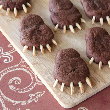 Inspired by the legendary Mor'du from #Disney #Pixar's #Brave, these rich, chocolaty cookies are tipped with slivered almond claws.