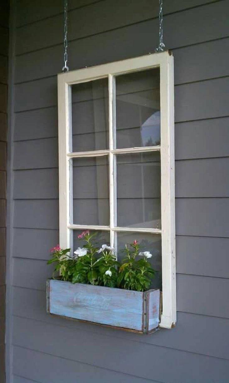 Sale Wood Window Flower Box Window Frames Antique Wood Etsy Window Box Flowers Wooden Flowers Wooden Windows