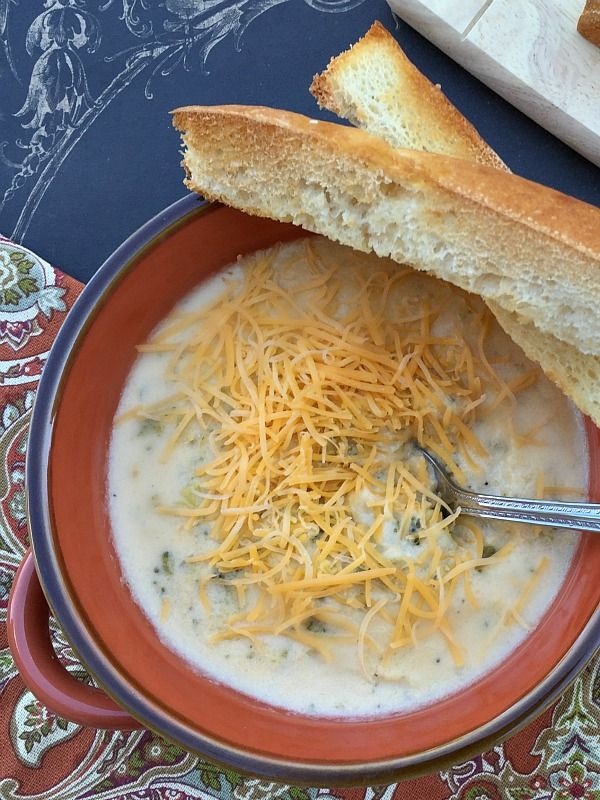 Best Broccoli Cheese Soup Recipe on 5 ingredients, ready to eat in 30 minutes.