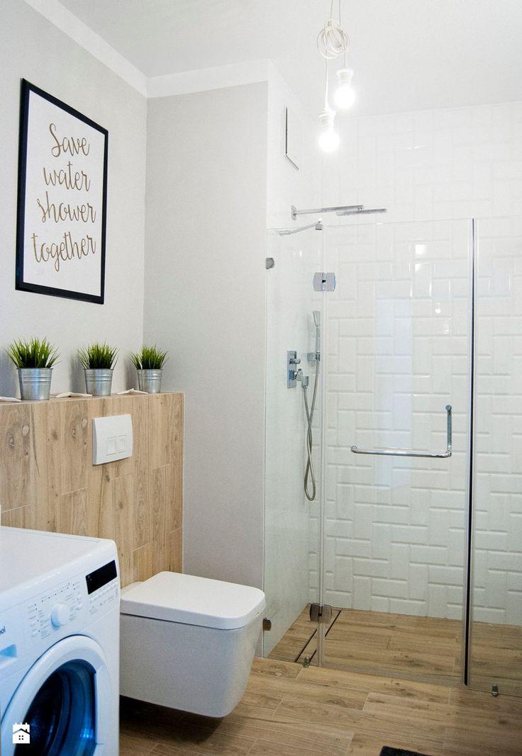 Apartament 4 Żagiel Gdańsk - Łazienka, styl skandynawski - zdjęcie od Agata Paczuska-Bałkowiec