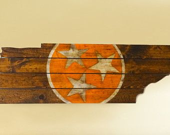 University of Tennessee Wooden State Flag Cut Out