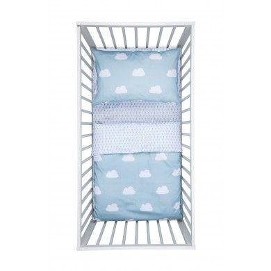 Parure de lit bébé   Cloudy Drops in Blue Haze - Tout nos produits