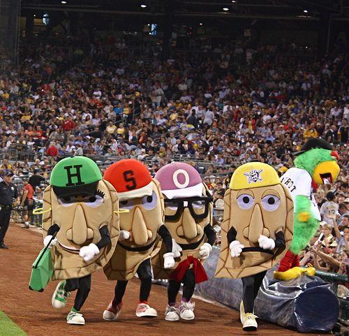Run the pierogies race at a Pittsburgh Pirates game.