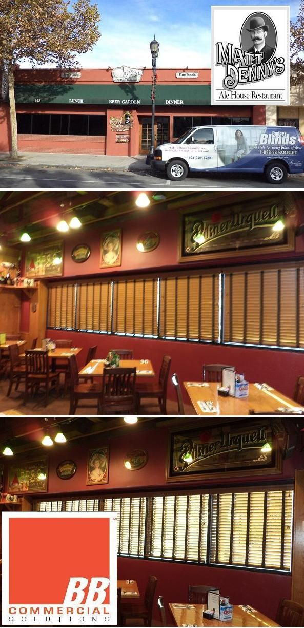 Wood Blinds With Ladder Tape Installed At Matt Denny S Ale