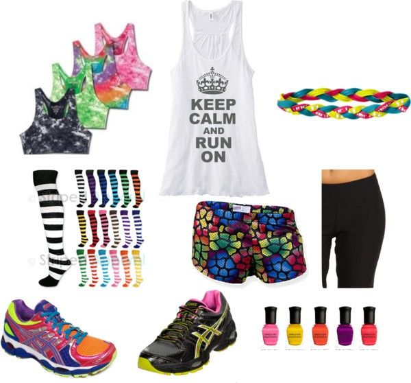 Colorful running gear for color runs...but you are banned if you don't have any white! ;)