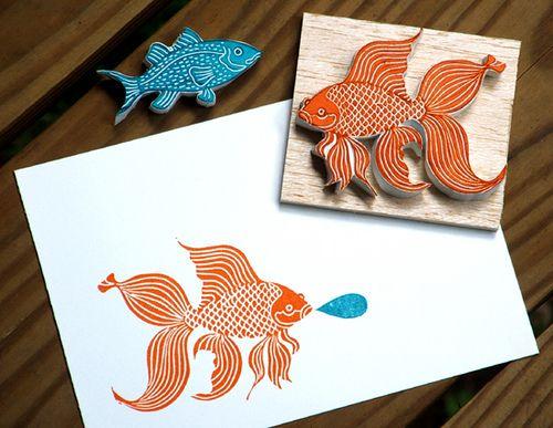 Little fishy stamps | Flickr: Intercambio de fotos