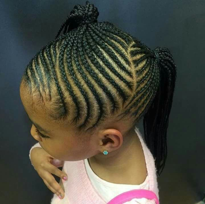 Hairstyles For Black Little Girls little girls hair style cute braided plait hair bow more Girl Hairstyles Cornrows Twists Braid Hairstylesnatural Hairstylesblack Kids