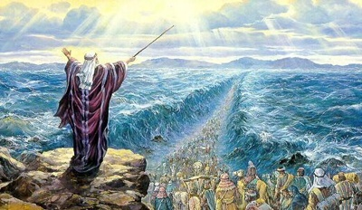Moses parted the red Sea---------------------  He performs wonders that cannot be fathomed, miracles that cannot be numbered.  Job 9:1