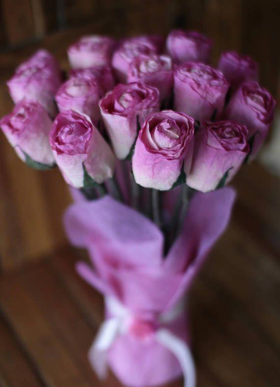 Sola Wood Flowers Stemmed Roses White For Weddings