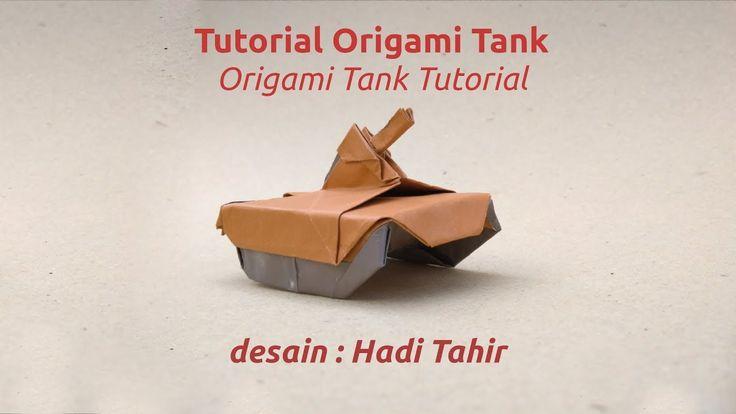 Cara Membuat Origami Tank/ How to Make Origami Tank