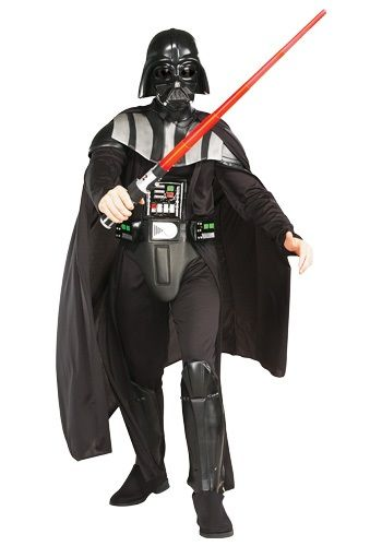 Adult deluxe Darth Vader costume is an official Star Wars adult costume. This is a Darth Vader costume replica that makes a great adult Halloween costume.