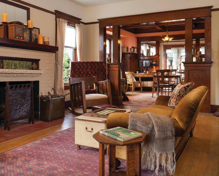 Original craftsman millwork. Seattle arts & crafts home