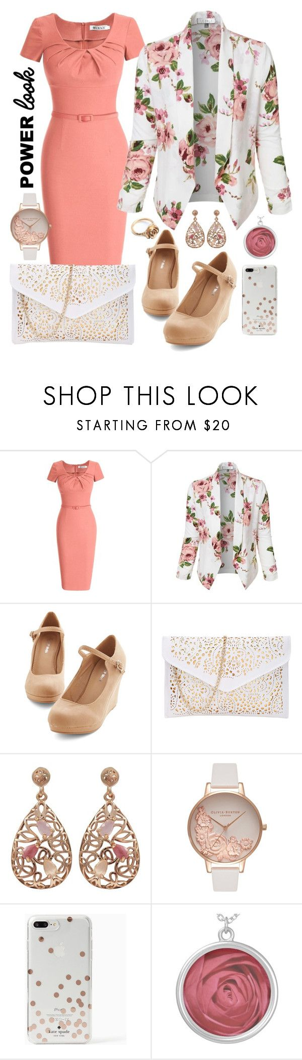 """Rose Power"" by breedeevee on Polyvore featuring LE3NO, Luxiro, Olivia Burton, Kate Spade and LeiVanKash"