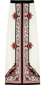 ALICE by TemperleyNijinsky printed silk maxi skirt