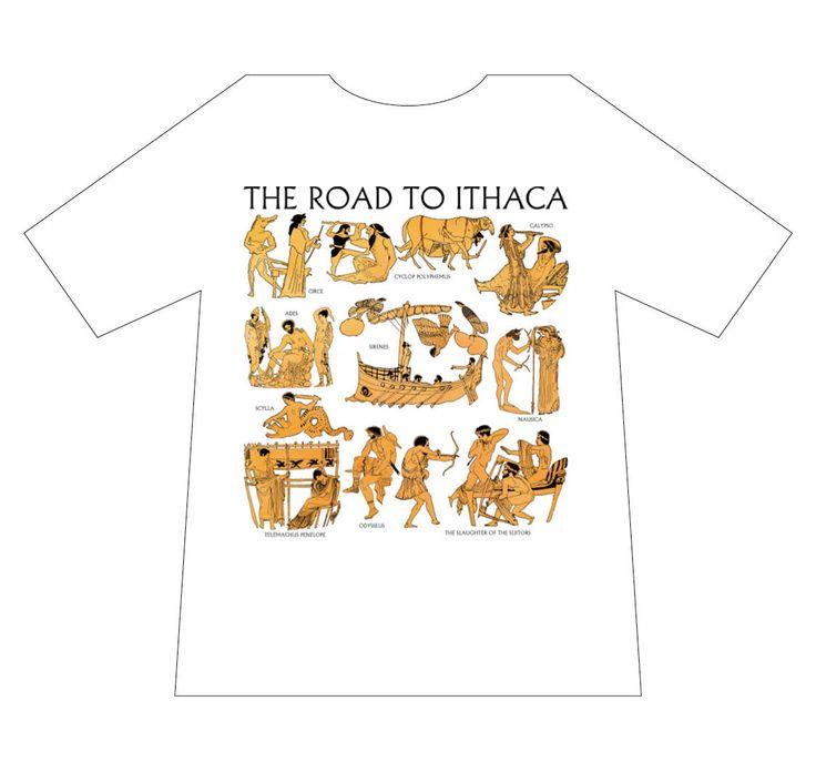 Greek culture T-shirt, Road to Ithaca, T-logos, Ancient Greece, T-shirts, mediterraneo editions, www.mediterraneo.gr