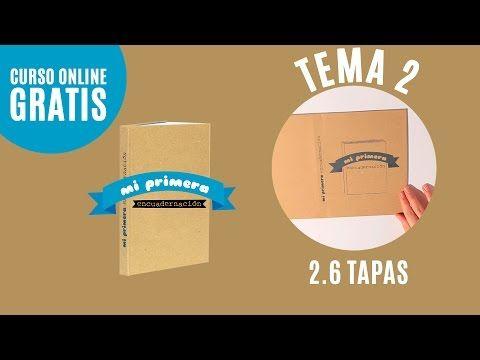 (65) Hacer tapas | Tema 2.6 | Curso Online Mi primera encuadernación (Tutorial para encuadernar libro) - YouTube