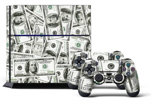 PS4 Designer Skin for Sony PlayStation 4 Console System plus Two(2) Decals for: PS4 Dualshock Controller - Big Ballin - http://www.rekomande.com/ps4-designer-skin-for-sony-playstation-4-console-system-plus-two2-decals-for-ps4-dualshock-controller-big-ballin-2/