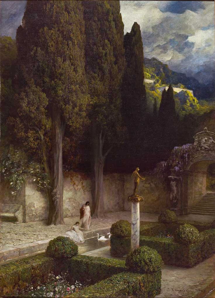 Rosengarten by Ferdinand Keller:  I saw this on a rainy day and found it so evocative, I simply sat and stared at it.  Lovely.
