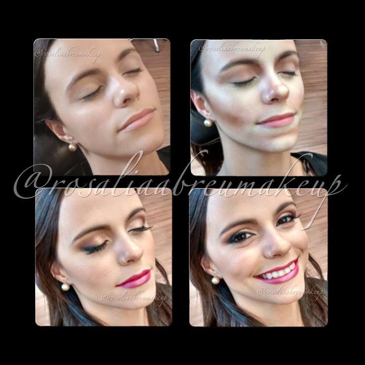 Antes, durante, depois e sempre linda! Maquiagem/Makeup: Rosália Abreu