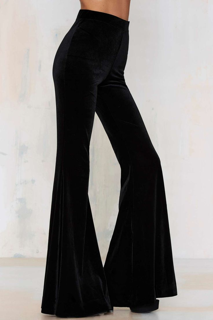Nasty Gal Annabel Lee Velvet Flare Pants | Shop Clothes at Nasty Gal!